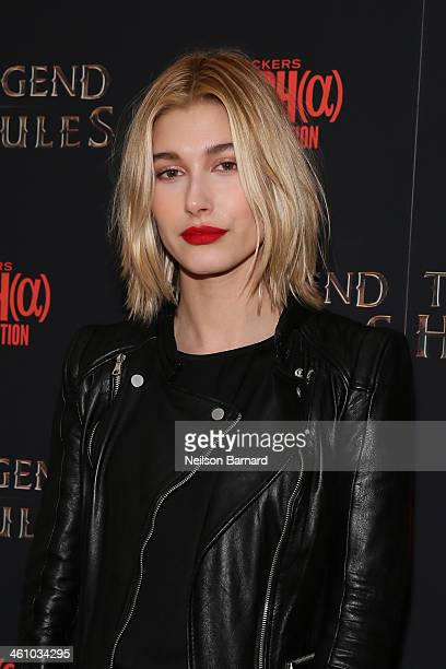 Model Hailey Baldwin attends the The Legend Of Hercules premiere at Crosby Street Hotel on January 6 2014 in New York City