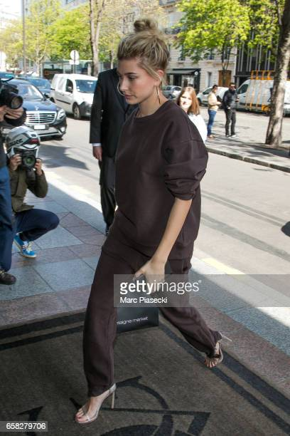 Model Hailey Baldwin is seen on March 27 2017 in Paris France