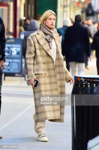 Model Hailey Baldwin is seen out IMG Office on January 30, 2019 in New York City.