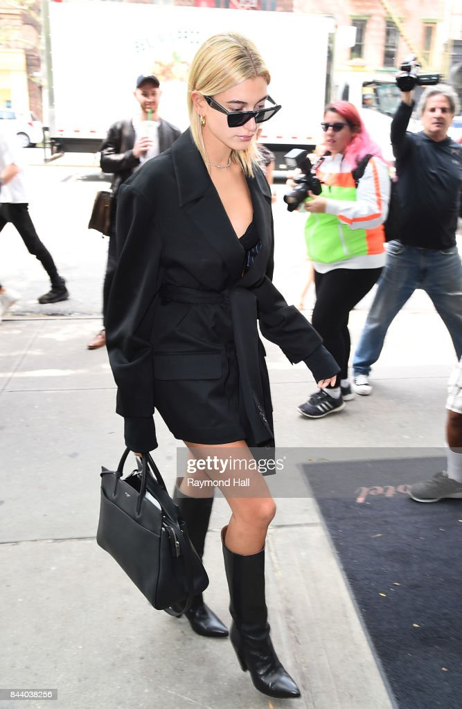 10f8ab153fd4 Model Hailey Baldwin seen on the streets of Manhattan on September 7 ...