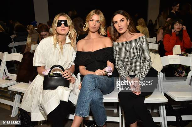 Model Hailey Clauson and Actor Elizabeth Chambers attend the Brock Collection front row during New York Fashion Week The shows at Gallery II at...