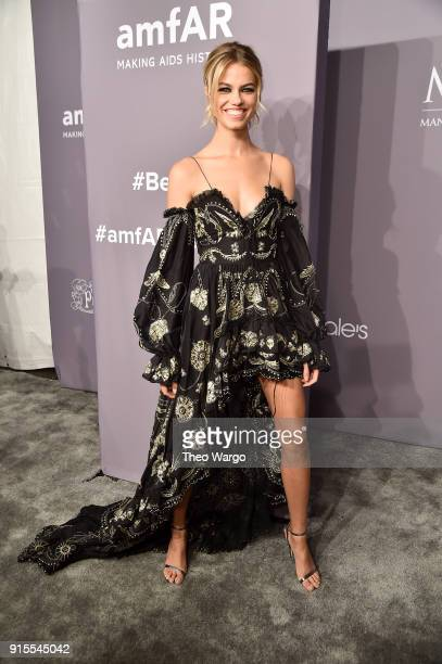 Model Hailey Clauson attends the 2018 amfAR Gala New York at Cipriani Wall Street on February 7 2018 in New York City