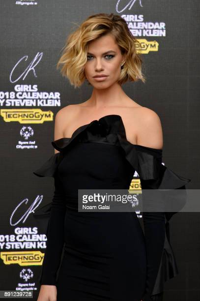 Model Hailey Clauson attends the CR Fashion Book Celebrating launch of CR Girls 2018 with Technogym at Spring Place on December 12 2017 in New York...