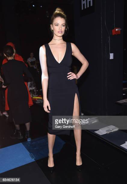 Model Hailey Clauson attends the Cushnie Et Ochs fashion show during February 2017 New York Fashion Week at Gallery 1 Skylight Clarkson Sq on...
