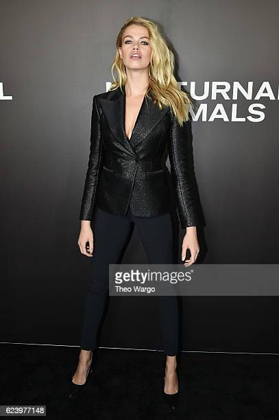 Model Hailey Clauson attends the Nocturnal Animals premiere at The Paris Theatre on November 17 2016 in New York City
