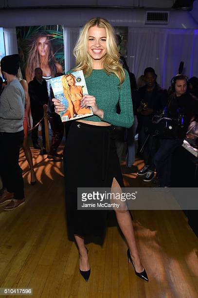 Model Hailey Clauson poses together at the Sports Illustrated Swimsuit 2016 Swim City at the Altman Building on February 15 2016 in New York City