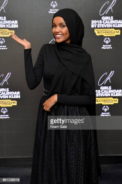Model Halima Aden attends the CR Fashion Book Celebrating launch of CR Girls 2018 with Technogym at Spring Place on December 12 2017 in New York City