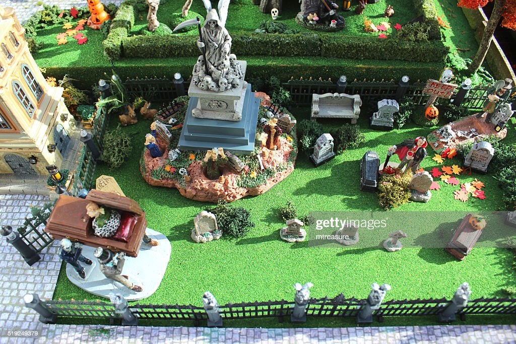 Halloween Miniaturen.Model Halloween Gruseligestadtort Miniaturen Friedhof