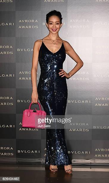 a89e6909d3a Model Hana Matsushima attends the Bvlgari Avrora Awards at the Midtown  Square on November 29 2016