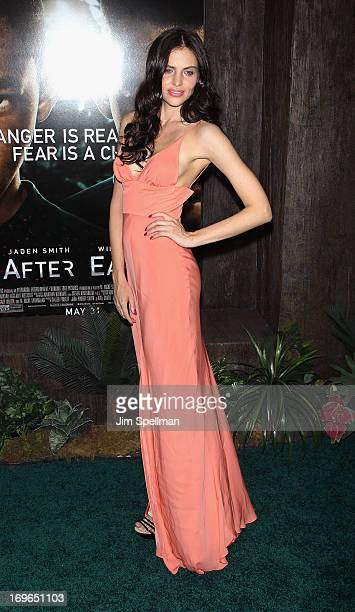 Model Hana Nitsche attends the 'After Earth' premiere at the Ziegfeld Theater on May 29 2013 in New York City