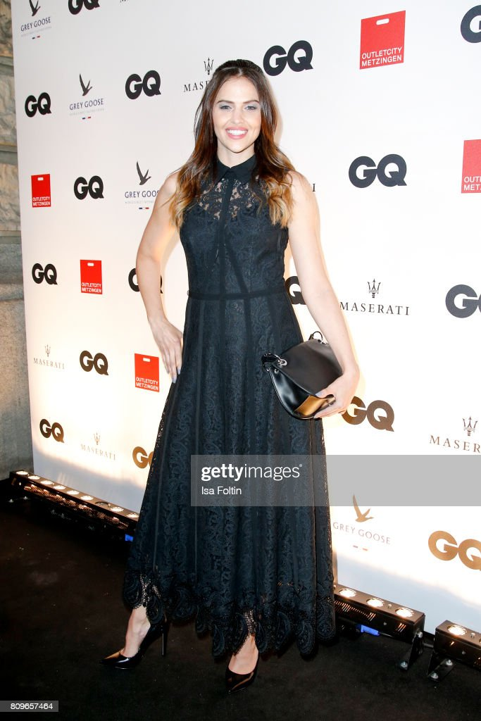 Model Hana Nitsche attends the GQ Mension Style Party 2017 at Austernbank on July 5, 2017 in Berlin, Germany.
