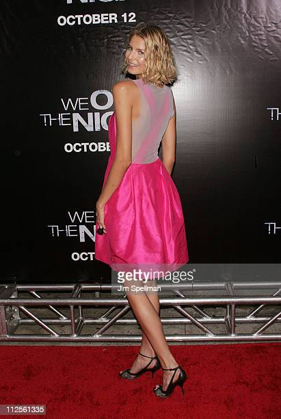 Model Hana Soukupova arrives at We Own The Night Premiere at the Chelsea West Cinemas on October 9 2007 in New York City