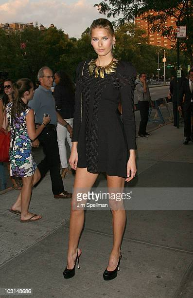 Model Hana Soukupova attends the Cinema Society 2ist screening of Twelve at Landmark's Sunshine Cinema on July 28 2010 in New York City