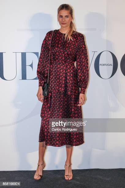 Model Hana Soukupova attends the Vogue Portugal Party Photocall on October 5 2017 in Lisbon Portugal
