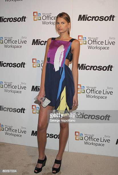 Model Hana Soukupova wearing chloe at the launch of Microsoft Office Live Workspace on March 3 2008 at Twelve 21 in New York City