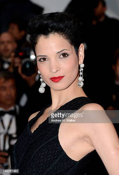 Model Hanaa Ben Abdesslem attends the Cosmopolis premiere during the 65th Annual Cannes Film Festival at Palais des Festivals on May 25 2012 in...