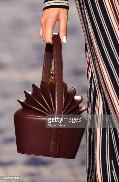A model handbag detail walks the runway for Gabriela Hearst fashion show during New York Fashion Week at The Pool at Four Season Hotel on September...