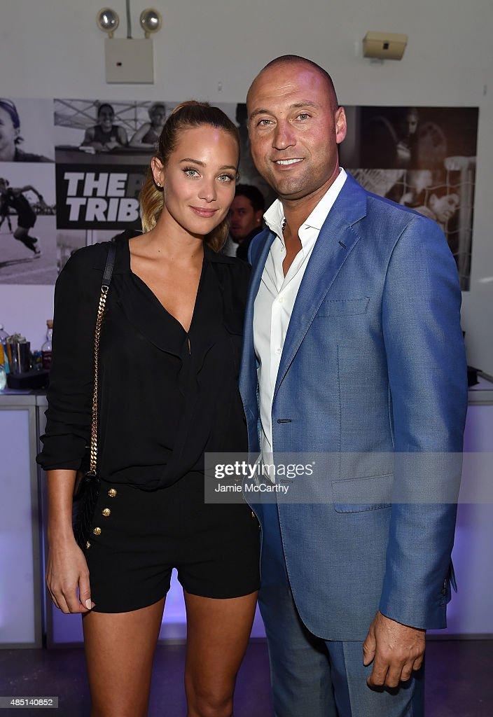 Derek Jeter, Caroline Wozniacki, And The Players' Tribune Celebrate Women In Sports And The 2015 U.S. Open : News Photo