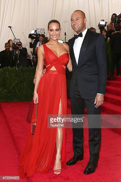 Model Hannah Davis and former New York Yankees shortstop Derek Jeter attend China Through the Looking Glass the 2015 Costume Institute Gala at...