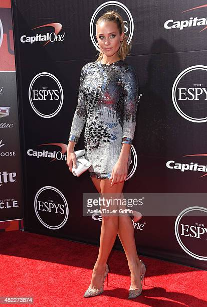 Model Hannah Davis arrives at The 2015 ESPYS at Microsoft Theater on July 15 2015 in Los Angeles California