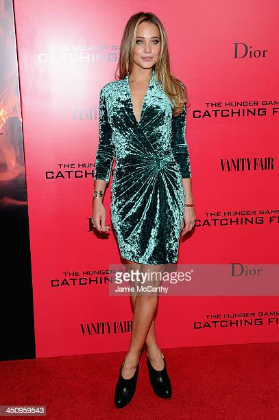 """Model Hannah Davis attends a special screening of """"The Hunger Games: Catching Fire"""" on November 20, 2013 in New York City."""