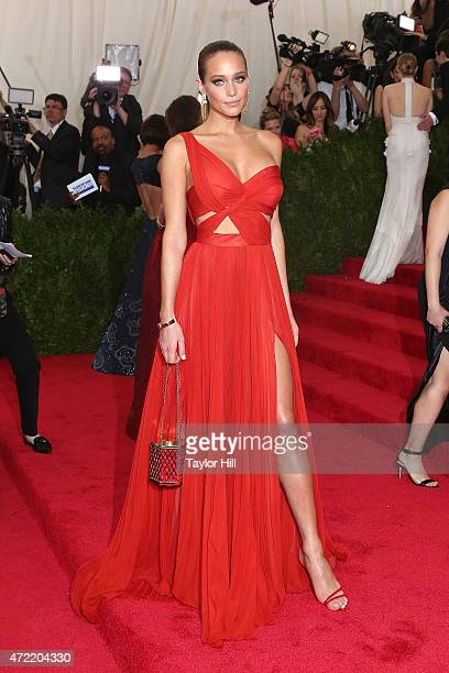 Model Hannah Davis attends China Through the Looking Glass the 2015 Costume Institute Gala at Metropolitan Museum of Art on May 4 2015 in New York...