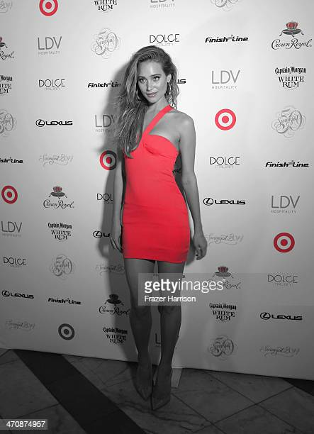 Model Hannah Davis attends Sports Illustrated Swimsuit South Beach Soiree at The Gale Hotel on February 20 2014 in Miami Florida