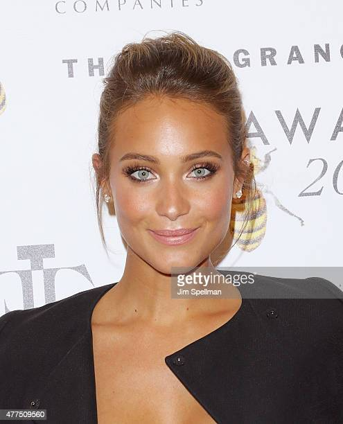Model Hannah Davis attends the 2015 Fragrance Foundation Awards at Alice Tully Hall at Lincoln Center on June 17 2015 in New York City