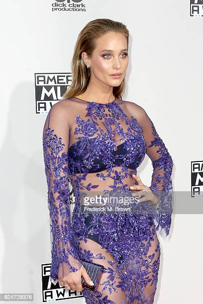Model Hannah Davis attends the 2016 American Music Awards at Microsoft Theater on November 20 2016 in Los Angeles California