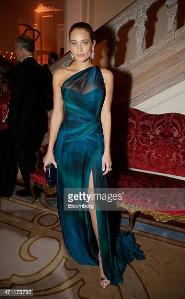Model Hannah Davis attends the Bloomberg Vanity Fair White House Correspondents' Association dinner afterparty in Washington DC US on Saturday April...