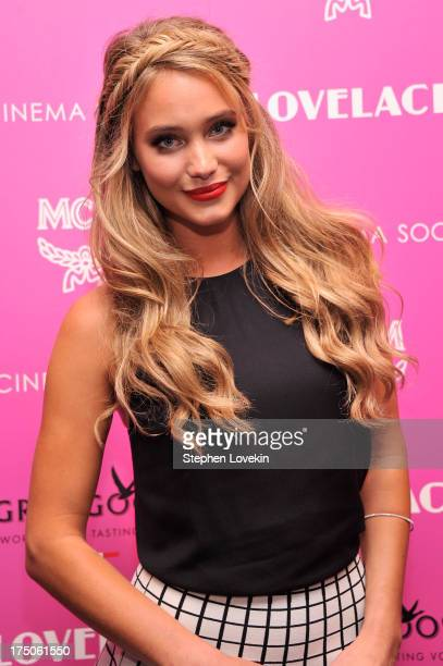 Model Hannah Davis attends The Cinema Society and MCM with Grey Goose screening of Radius TWC's Lovelace at MoMA on July 30 2013 in New York City