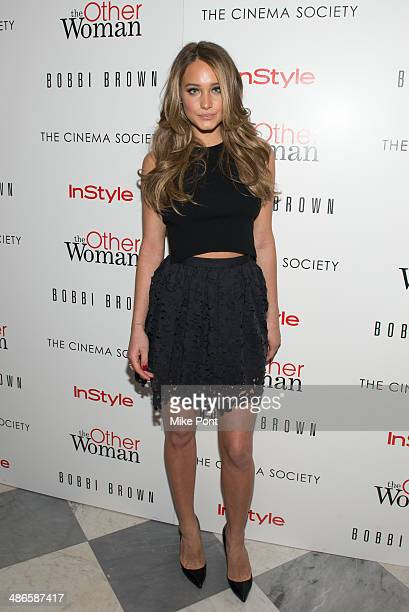 Model Hannah Davis attends The Cinema Society Bobbi Brown with InStyle screening of 'The Other Woman' at The Paley Center for Media on April 24 2014...