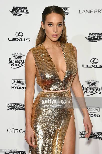 Model Hannah Davis attends the Sports Illustrated Swimsuit 2016 NYC VIP press event on February 16 2016 in New York City
