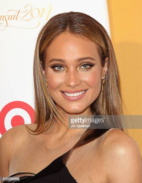 Model Hannah Davis attends the Sports Illustrated Swimsuit 50th Anniversary Party at Swimsuit Beach House on February 18 2014 in New York City