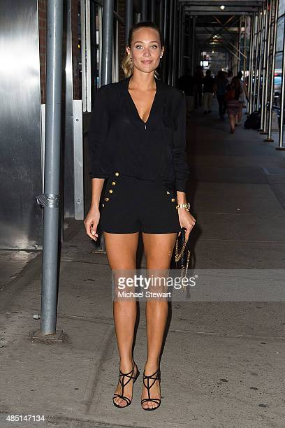 Model Hannah Davis seen on the streets of Manhattan on August 24 2015 in New York City