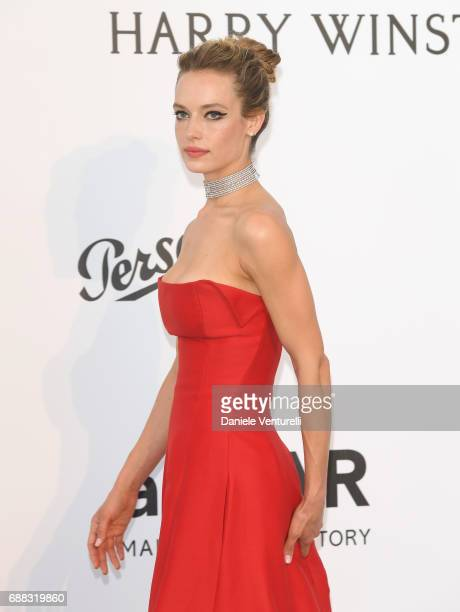 US model Hannah Ferguson arrives at the amfAR Gala Cannes 2017 at Hotel du CapEdenRoc on May 25 2017 in Cap d'Antibes France