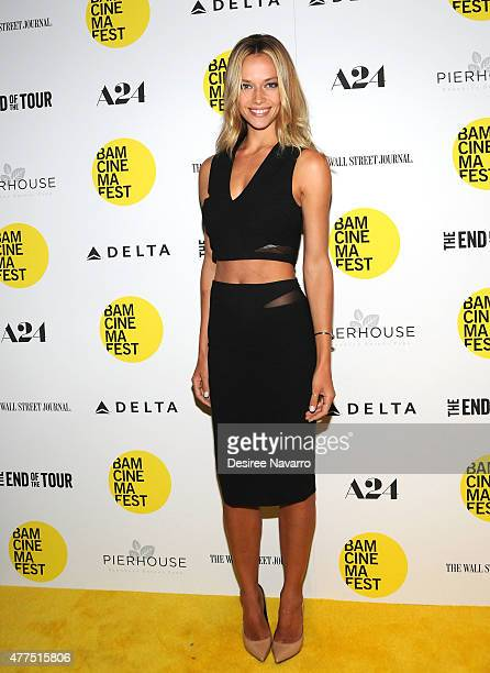 Model Hannah Ferguson attends BAMcinemaFest 2015 The End Of Tour opening night screening at BAM Howard Gilman Opera House on June 17 2015 in New York...
