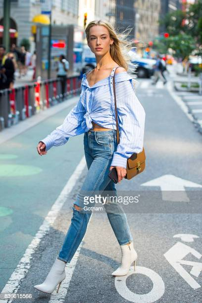 Model Hannah Ferguson attends call backs for the 2017 Victoria's Secret Fashion Show in Midtown on August 21 2017 in New York City