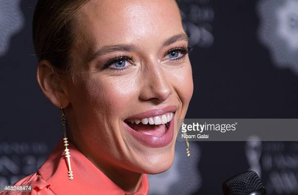 Model Hannah Ferguson attends the 2015 Fashion 2.0 Awards at Merkin Concert Hall on March 31, 2015 in New York City.