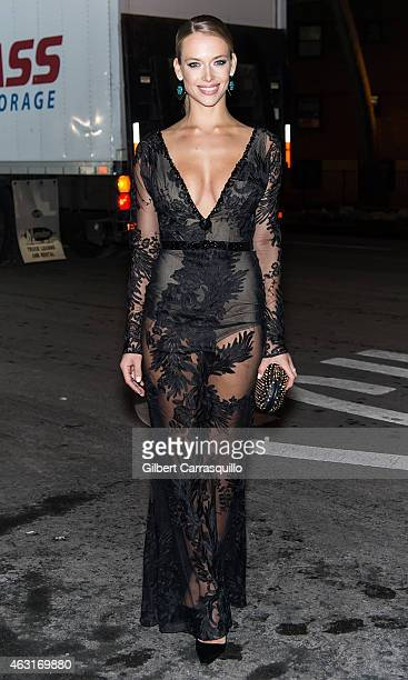 Model Hannah Ferguson attends the 2015 Sports Illustrated Swimsuit Issue celebration at Marquee on February 10, 2015 in New York City.
