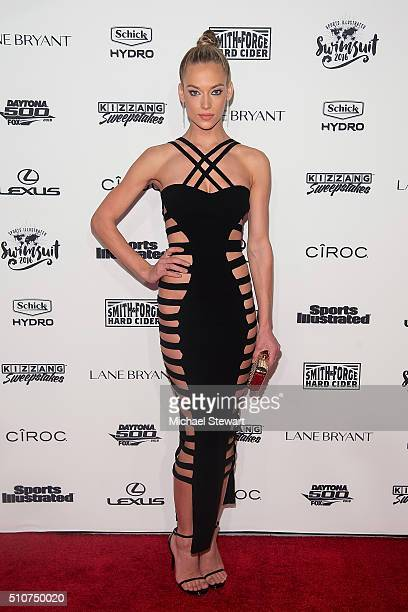 Model Hannah Ferguson attends the 2016 Sports Illustrated Swimsuit Launch Celebration at Brookfield Place on February 16 2016 in New York City