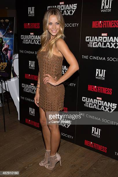 Model Hannah Ferguson attends The Cinema Society with Men's Fitness and FIJI Water special screening of Marvel's 'Guardians of the Galaxy' at Crosby...