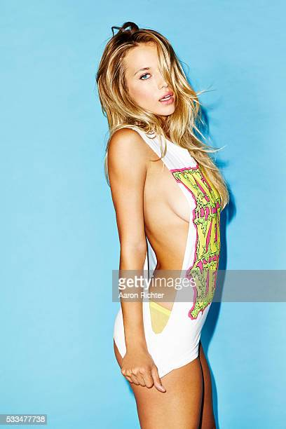 Model Hannah Ferguson is photographed for GQ.com in 2014 in New York City. Hair by Chris Lospalluto and makeup by Carrie Lamarca. PUBLISHED IMAGE.