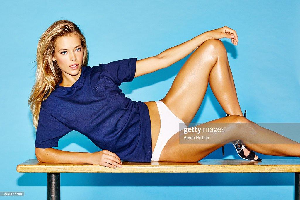 Hannah Ferguson, GQ.com, October 2014 : News Photo