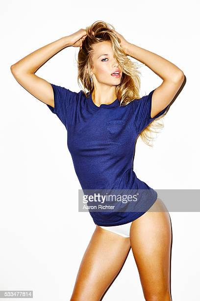 Model Hannah Ferguson is photographed for GQcom in 2014 in New York City Hair by Chris Lospalluto and makeup by Carrie Lamarca PUBLISHED IMAGE