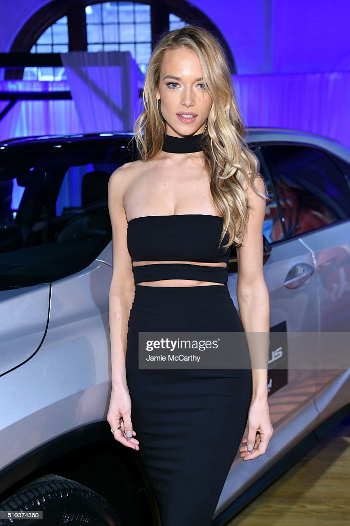 Model Hannah Ferguson poses at the Sports Illustrated Swimsuit 2016 - Swim City at the Altman Building on February 15, 2016 in New York City.