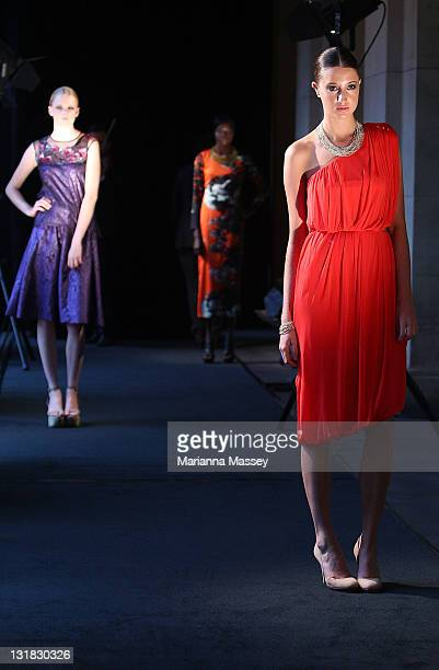 Model Hannah wears a dress by designer Akira model Sahara wears a dress by designer Manning Cartell and model Caroline wears a dress by designer Lisa...