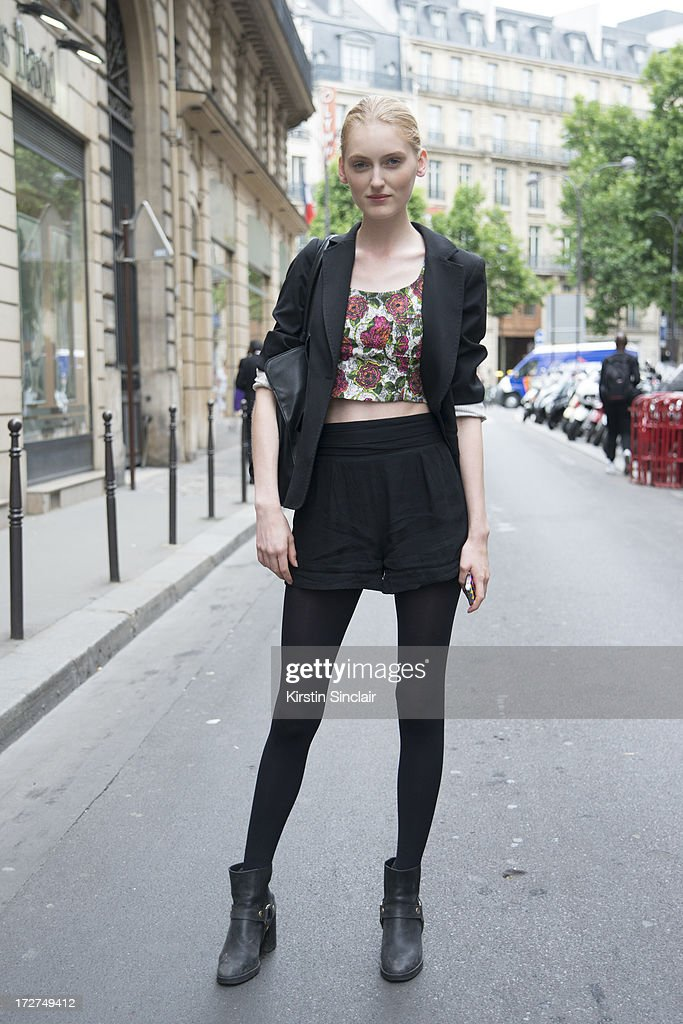 Model Hannare Blaauboer on day 4 of Paris Collections: Womens Haute Couture on July 04, 2013 in Paris, France.