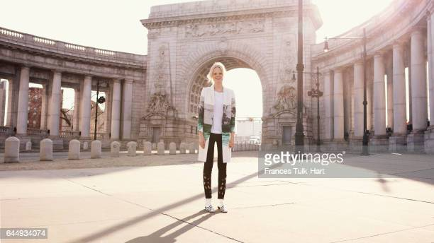 Model Hanne Gaby Odiele is photographed for Vogue UK on December 14 2011 in New York City