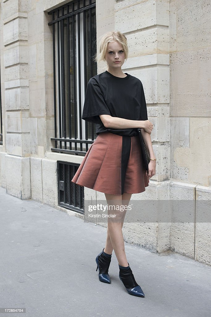 Model Hanne Gaby Odiele on day 2 of Paris Collections: Womens Haute Couture on July 02, 2013 in Paris, France.